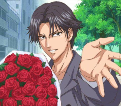 薔薇を贈る跡部