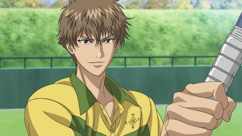 テニスする謙也