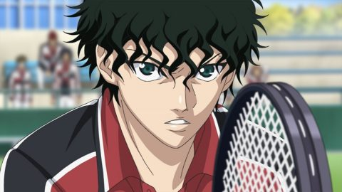 テニスをする切原