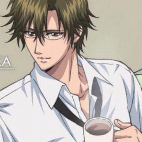 コーヒーを飲む手塚