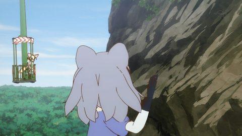 山登りするアライさん