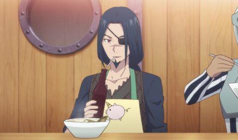 ごはんを食べるドラグノフ
