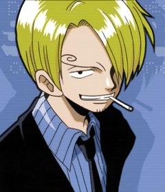 タバコを加えるサンジ