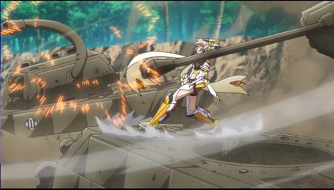 戦車を持ち上げる響