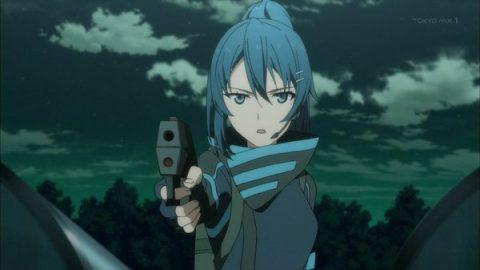 子供に銃を向けるステラ
