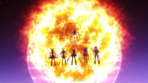 炎の前に立つ6人