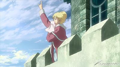 塔から手をふるアストライア
