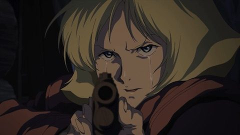 銃をかまえるセイラ