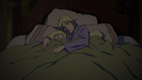 母親と一緒に寝るシャア