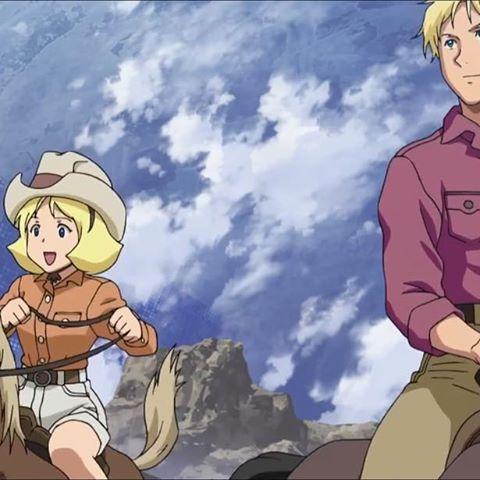 乗馬を楽しむ2人