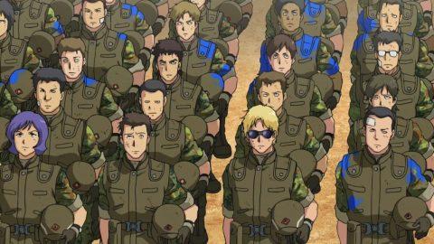 ジオン軍で訓練を受けるシャア
