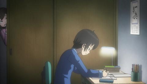 勉強に没頭するハルオ