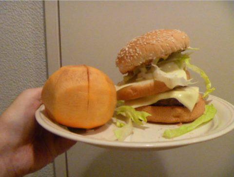 ぽんぽこハンバーガー