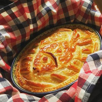 ニシンとカボチャのパイ