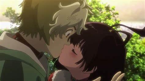 キスをする無名と生駒