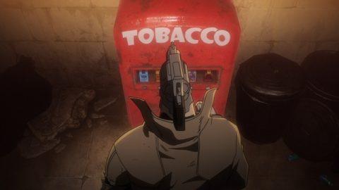 煙草を買う十三