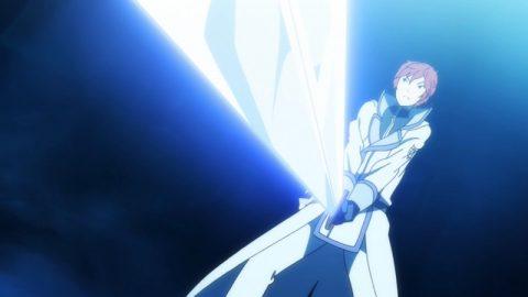 剣を構えるラインハルト