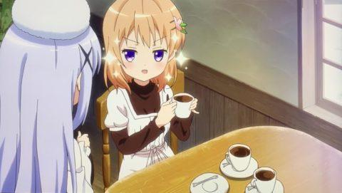 コーヒーを飲むココア