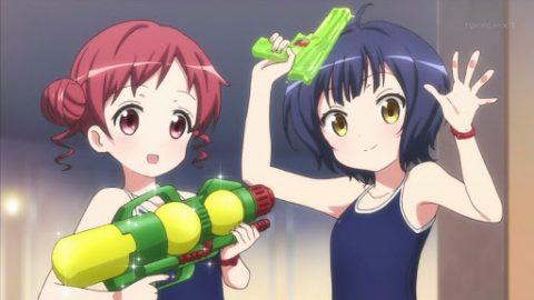 水鉄砲を持つメグ