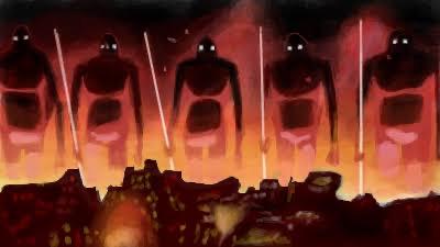 火の七日間を引き起こす巨神兵