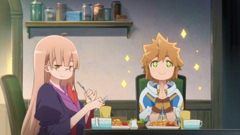食事する2人