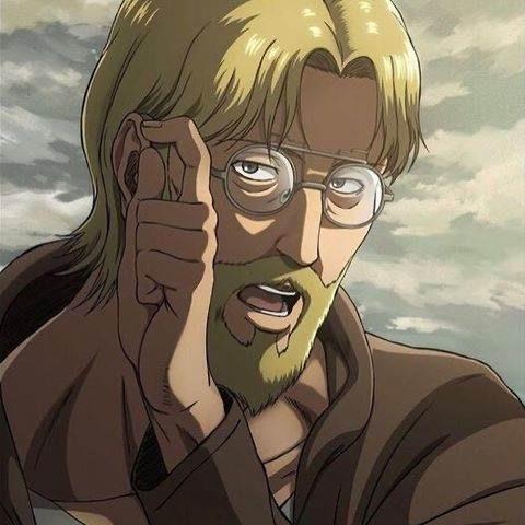 メガネをかけ直すジーク・イェーガ