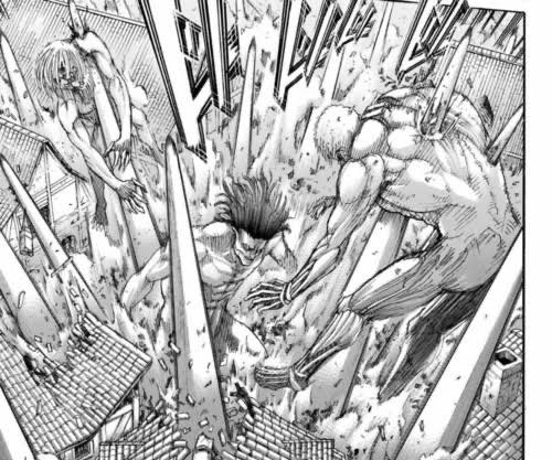 進撃の巨人の巨人同士の戦い