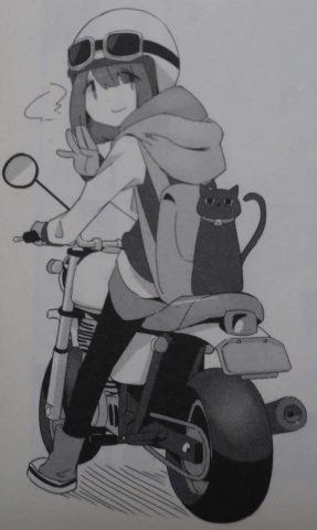 バイクに乗る綾乃