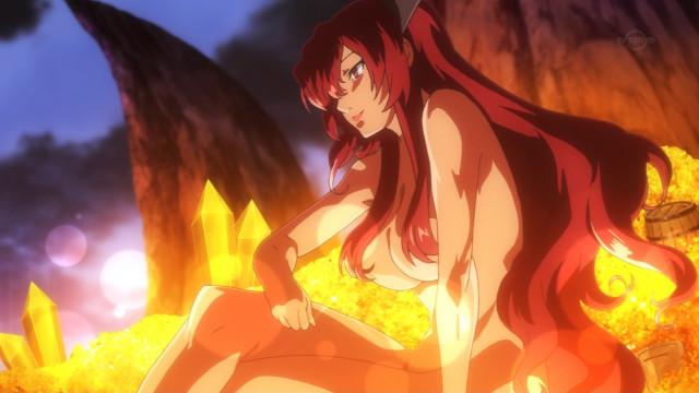 赤の女王の変身シーン